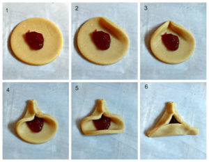 haman's ears cookie steps